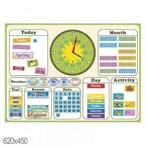 Английский календарь на магнитах для НУШ